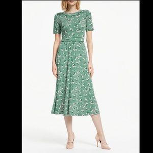 Boden Ava Midi Jersey Dress Green Floral